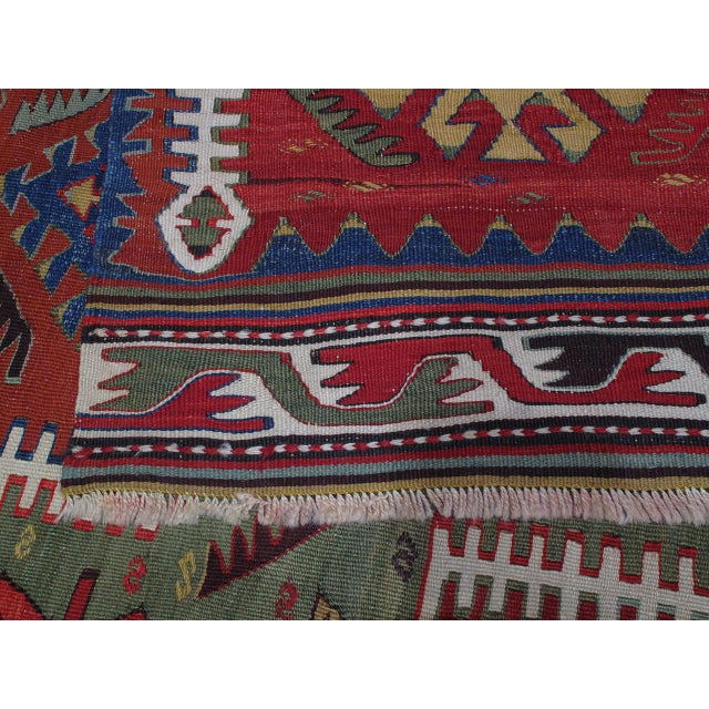 Kilim with Ascending Arches For Sale In New York - Image 6 of 10