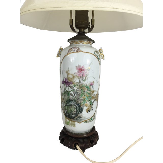 Asian Fine Antique Japanese Porcelain Vase Mounted as a Lamp For Sale - Image 3 of 6