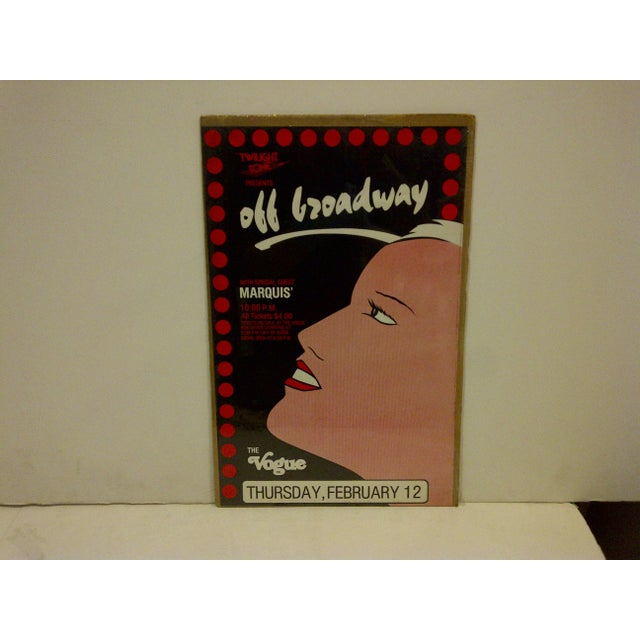 "Circa 1980 Vintage ""Off Broadway"" Theater Poster - Image 2 of 5"