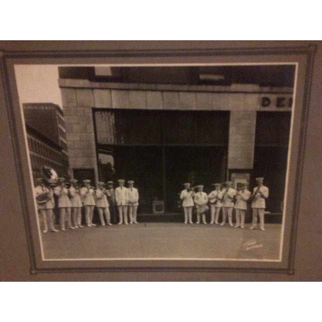 """Americana Vintage """"S.S. Leviathan Steamship Liner Band"""" Photograph For Sale - Image 3 of 5"""