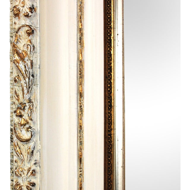 Large Antique Cream and Gold Mirror - Image 3 of 6