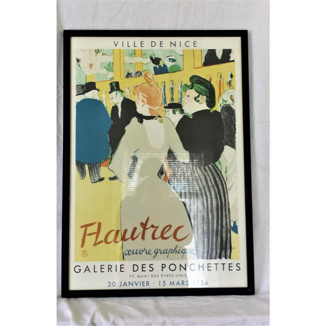 This piece was purchased at an estate sale of a collector of avante garde art. It is a Henri Toulouse Lautrec vintage...