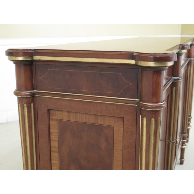 Brown Regency Ej Victor Walnut Sideboard With Inlay For Sale - Image 8 of 13