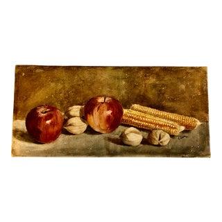 Modernist Still Life by E.Swain/ 'Harvest' For Sale