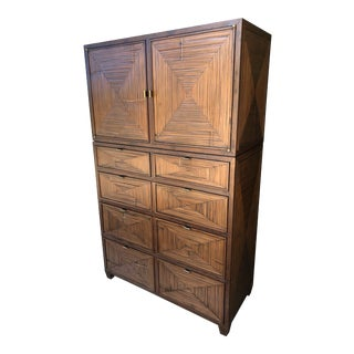 McGuire Faubourg Five-Drawer Chest Cabinet- 2pc For Sale