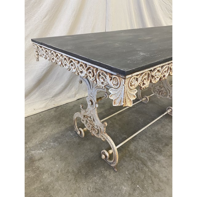 French Pastry Table With Iron Base - 19th C For Sale - Image 9 of 12