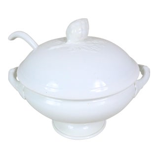 French Ironstone Covered Tureen W/ Ladle For Sale