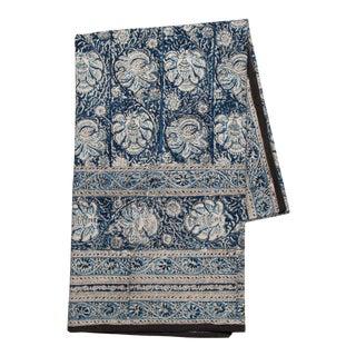Iznik Floral Print Tablecloth, 6-seat table - Indigo For Sale