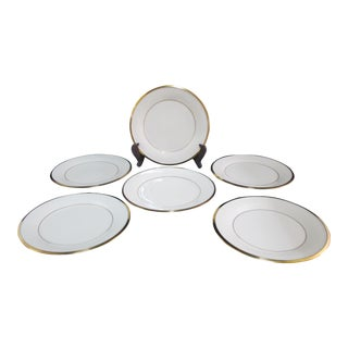 Lenox Ecru China Gold Rim Eternal Salad Plates - Set of 6 For Sale