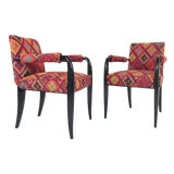 Image of Pair of Art Deco Armchairs For Sale