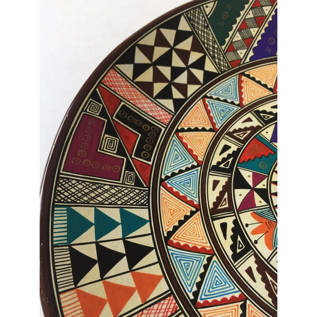 Vintage Hand Painted Peruvian Clay Plate Chairish