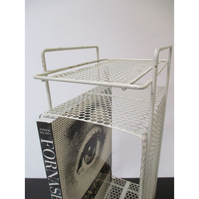 White Metal Telephone Stand / Magazine Holder - Image 7 of 9
