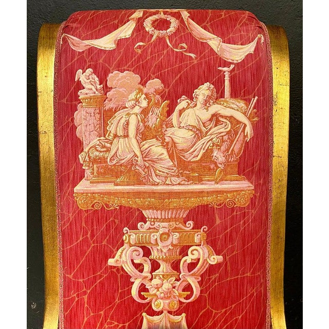 Ten Neoclassical Dining Chairs in Fine Versace Style Fabric For Sale - Image 4 of 12