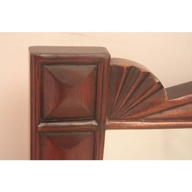Pediment Detail Beveled Mirror For Sale - Image 9 of 11