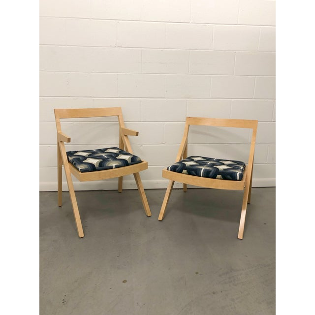 Minimalist Modern Custom Side Chairs - a Pair For Sale - Image 9 of 9