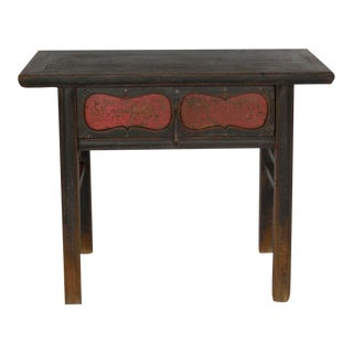 Qing Dynasty Painted Console with Drawer For Sale