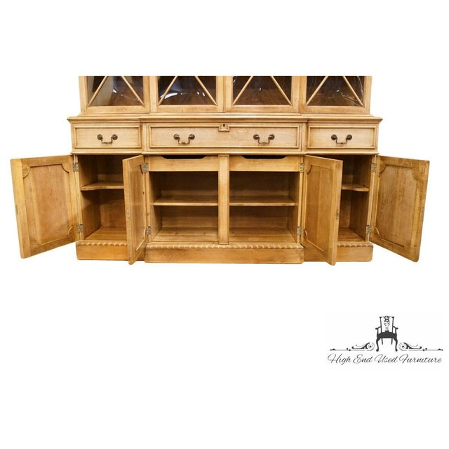 """Wood Saginaw Furniture Country French Regency 72"""" Secretary Display China Cabinet For Sale - Image 7 of 13"""