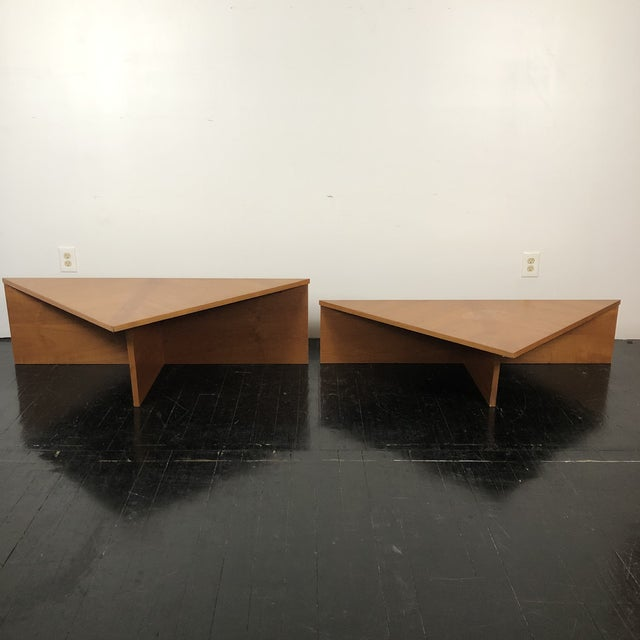 Danish Laurits M Larsen Teak Triangle Coffee Tables - a Pair For Sale In San Antonio - Image 6 of 13