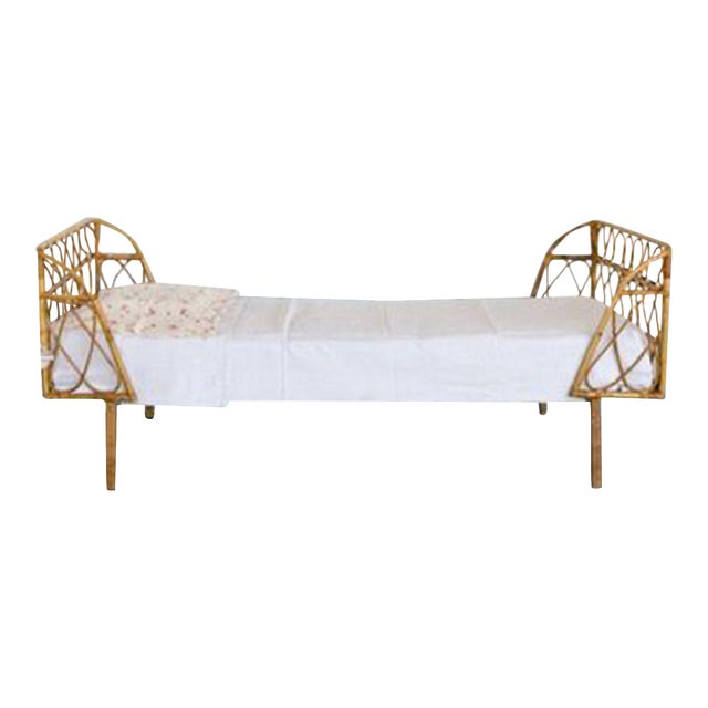 Vintage Bamboo Daybed For Sale
