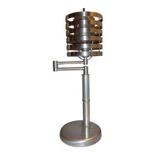 "Art Deco Machine Age Lamp C. 1930 - Iconic ""Swing Arm"" by Von Nessen For Sale"