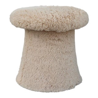 Modern Shaggy Toadstool Ottoman For Sale