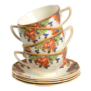 Crown Ducal Cup & Saucer - Set of 4