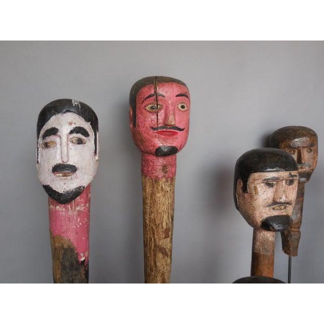 Wood Folk Art Sculptures For Sale - Image 7 of 8
