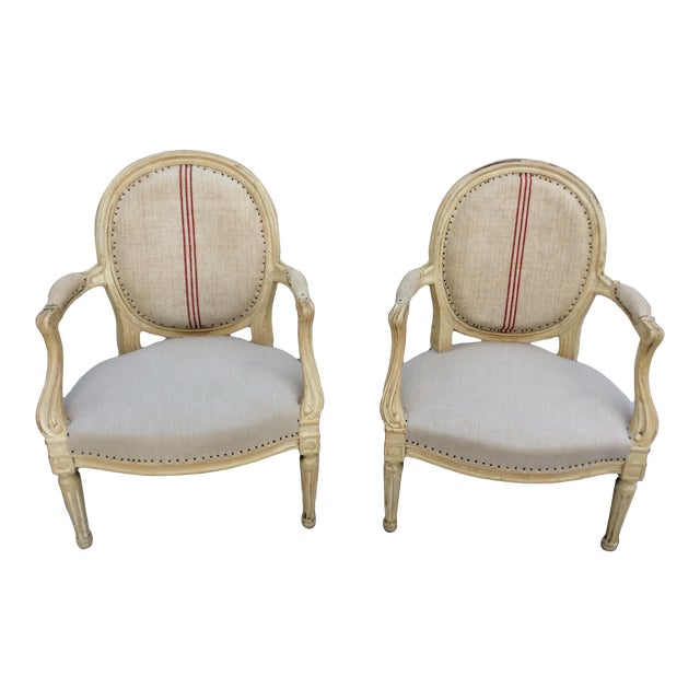 Vintage French Side Chairs - a Pair For Sale