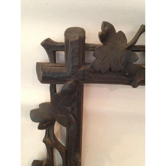 Antique Carved Black Forest Frame - Image 4 of 9