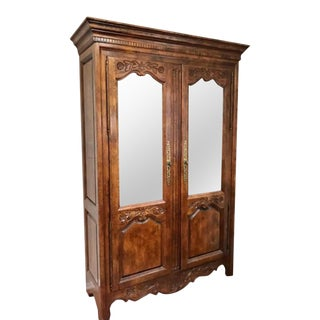 Hickory Furniture French Provincial Style Illuminated China Display Cabinet For Sale