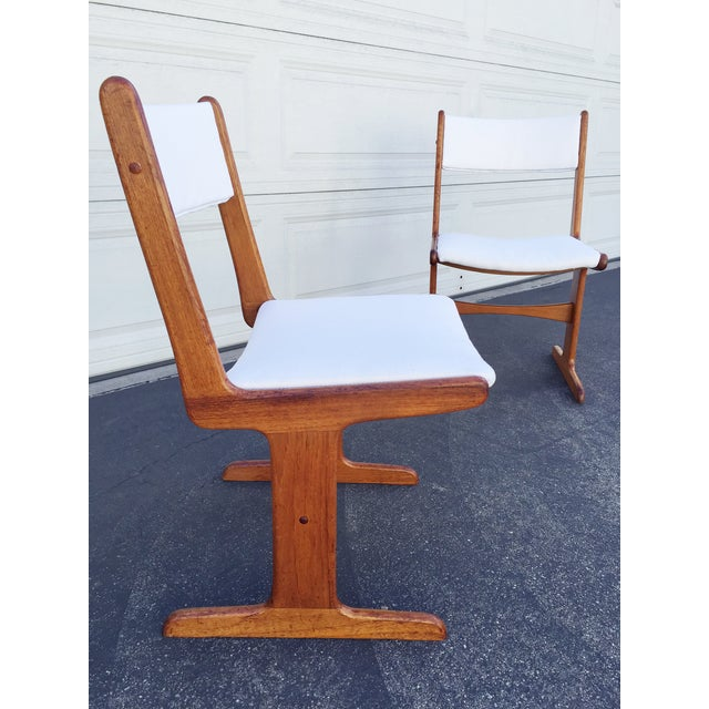Mid-Century Danish T-Base Chairs - A Pair - Image 2 of 7