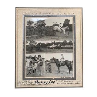Vintage Horse Race Winner Print For Sale