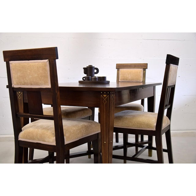 Bone Art Nouveau Dining Set For Sale - Image 7 of 13