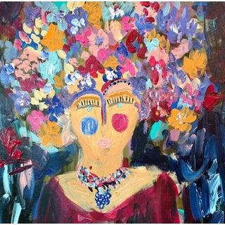 """Maria Callas"" Contemporary Abstract Portrait Acrylic Painting by Ebony Boyd"