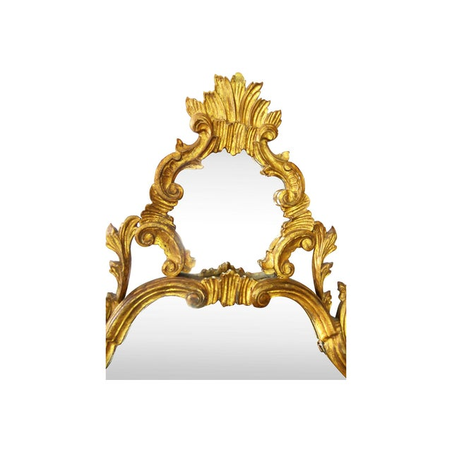 Italian Carved Gilt Wood Mirror - Image 4 of 7