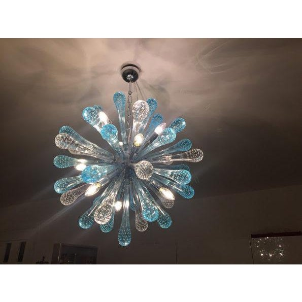 Contemporary Contemporary Murano Glass Sputnik Chandelier Multicolor For Sale - Image 3 of 6