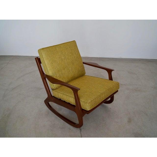 Wood Danish Modern Ib Kofod Larsen Rocking Chair For Sale - Image 7 of 13