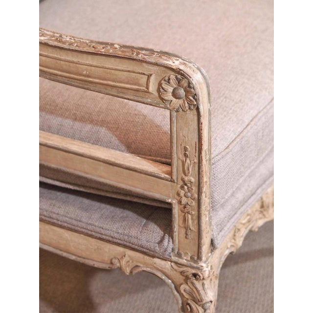 Antique French rococo grissaile Sofa For Sale In New Orleans - Image 6 of 7