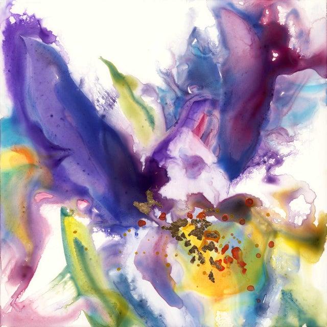 Original Purple Iris Painting For Sale