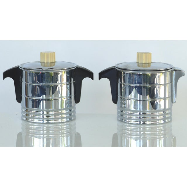 Art Deco 1960s Vintage General Electric Chrome Coffeemaker, Cream & Sugar - Set of 3 For Sale - Image 3 of 12