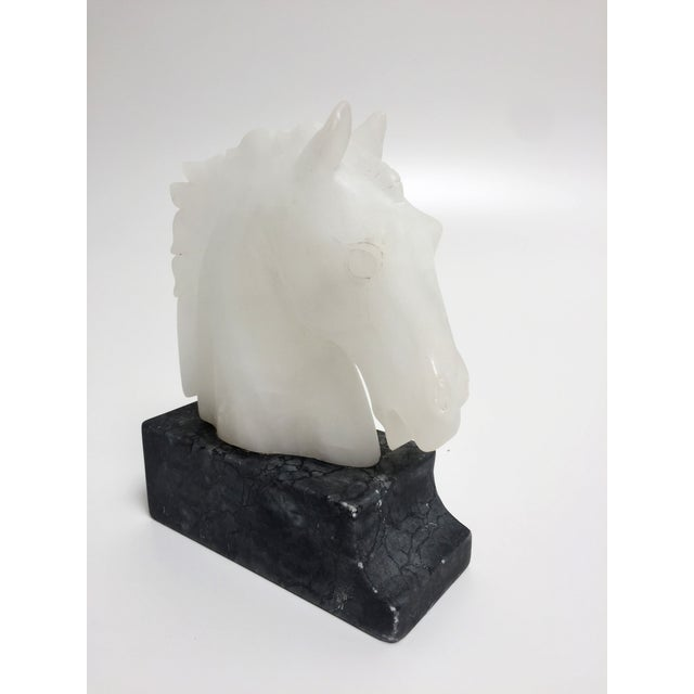 Vintage Alabaster Horse Head Bookends - A Pair For Sale - Image 7 of 10