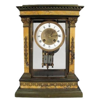 Louis XVI Style Overmantle Clock For Sale