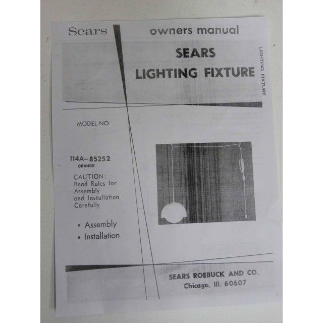 Orange Dome Mid-Century Pendant Lamp, New Old Stock - Image 9 of 9
