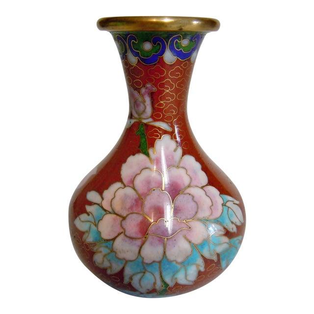 Asian Style Cloisonné Bulbous Vase For Sale
