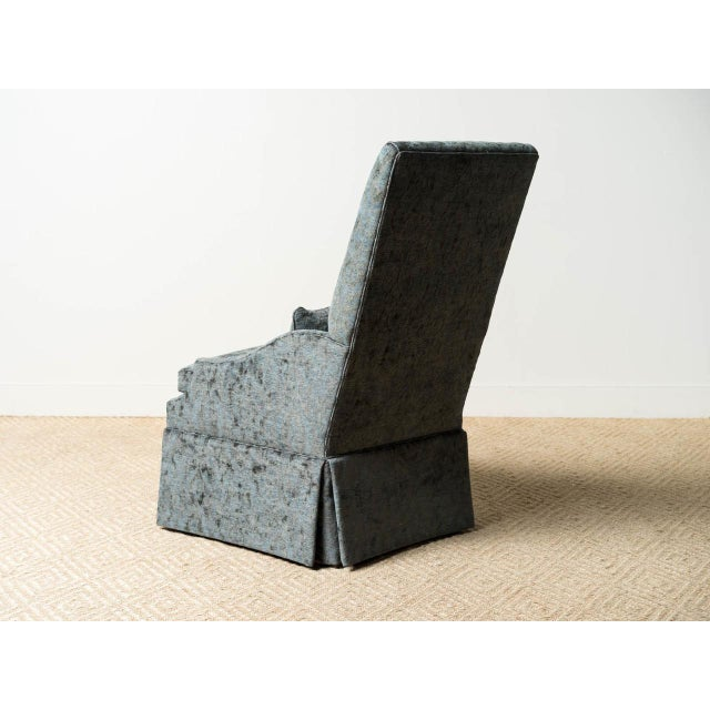 Traditional Modern Salon Slipper Chair For Sale - Image 3 of 6