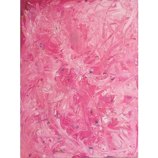 "Bruce Mishell ""Pink Passion"" Oil on Canvas Painting For Sale"