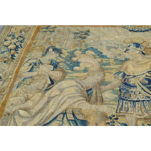 Huge Flemish Tapestry of King Solomon Meeting the Queen of Sheba For Sale - Image 4 of 8