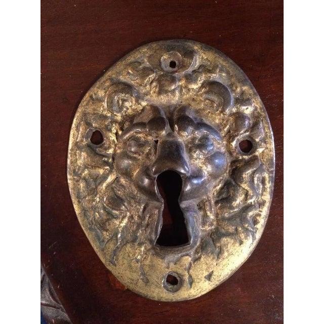 Gothic 18th Century Gilt Bronze Lion Escutcheon For Sale - Image 3 of 6