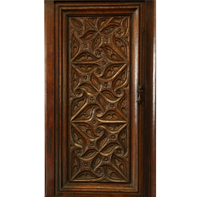 Heavily Carved Antique French Gothic Desk - Image 6 of 8
