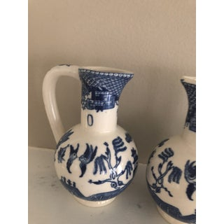1960s Vintage Blue Willow Vinegar and Oil Decanters- a Pair Preview